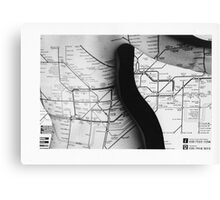 Body Maps - Tube Map - Back Canvas Print
