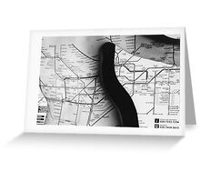 Body Maps - Tube Map - Back Greeting Card