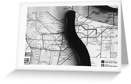 Body Maps - Tube Map - Back by MaggieGrace
