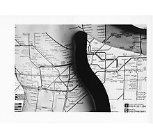 Body Maps - Tube Map - Back Photographic Print