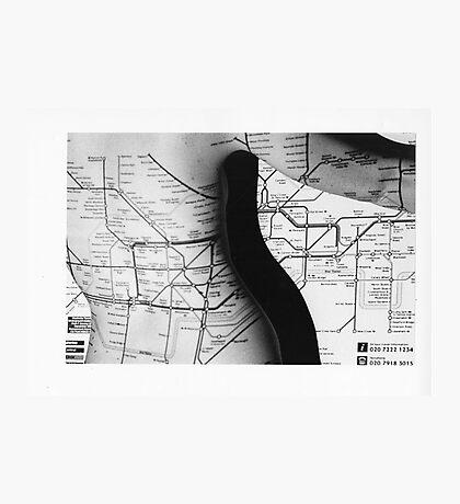 Body Maps - Tube Map - Back Photographic Print