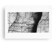 Body Maps - Tube Map - Torso Canvas Print