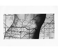 Body Maps - Tube Map - Torso Photographic Print