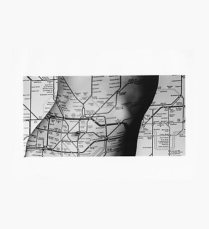 Body Maps - Tube Map - Torso Photographic Print
