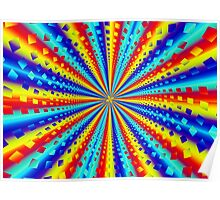 Colorful Squares Fractal Poster