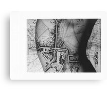 Body Maps - Windsor - Back Canvas Print