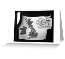 Body Maps - England - Torso Greeting Card