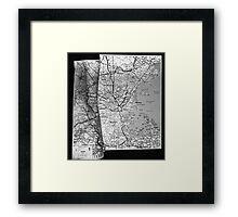 Body Maps - Boston Coast - Torso, Leg, Arm Framed Print