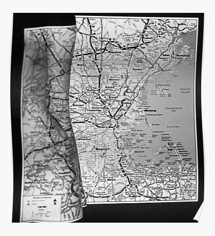 Body Maps - Boston Coast - Torso, Leg, Arm Poster
