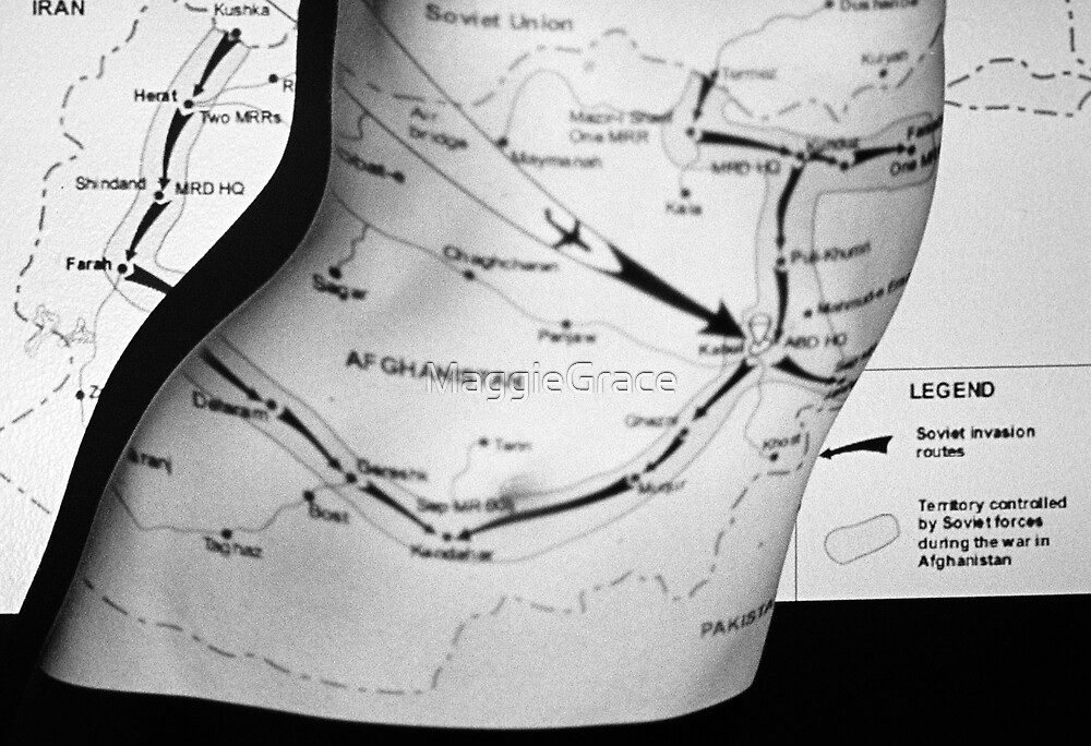 Body Maps - Afghanistan Routes - Torso by MaggieGrace