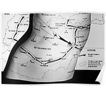 Body Maps - Afghanistan Routes - Torso Poster