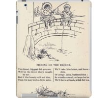 Miniature Under the Window Pictures & Rhymes for Children Kate Greenaway 1880 0045 Fishing on the Bridge iPad Case/Skin