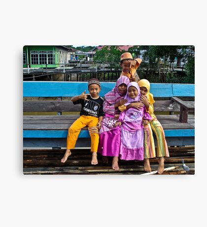 Boys and Girls Canvas Print