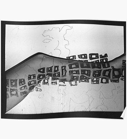 Body Maps - Mixed Map - Leg Poster