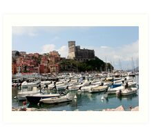 Lerici Touristic Harbour and Castle Art Print