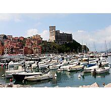 Lerici Touristic Harbour and Castle Photographic Print