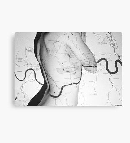 Body Maps - London Rivers - Back Canvas Print