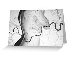 Body Maps - London Rivers - Back Greeting Card