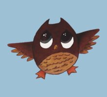 Owl with Big Eyes  Kids Tee