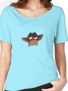 Owl with Big Eyes  Women's Relaxed Fit T-Shirt