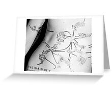 Body Maps - Naked City - Torso Greeting Card