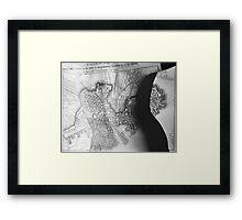 Body Maps - 19th C Boston - Back Framed Print
