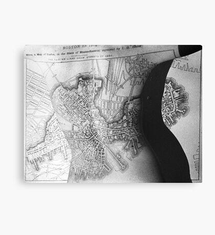 Body Maps - 19th C Boston - Back Canvas Print