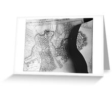 Body Maps - 19th C Boston - Back Greeting Card