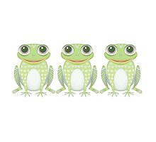 Happy Triplet Frogs by Jean Gregory  Evans