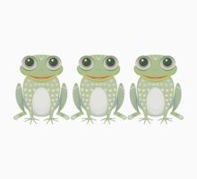 Happy Triplet Frogs Kids Clothes