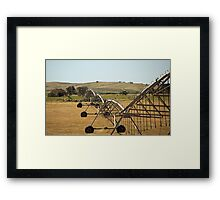 Centre Pivot Irrigation, Mt Benson Framed Print