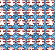 USA bald eagle pattern by mrhighsky