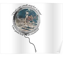 Neil Armstrong, Moon Walking Poster