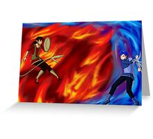 Fire vs Water Greeting Card