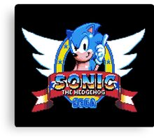 Sonic Logo - pixel art Canvas Print