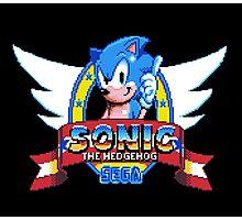 Sonic Logo - pixel art Photographic Print