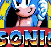 Sonic Logo - pixel art Sticker