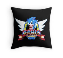 Sonic Logo - pixel art Throw Pillow