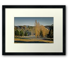Frosty but Fine - near Hahndorf Framed Print