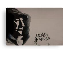 Mural Of Nobel Laureate Poet Pablo Neruda Canvas Print