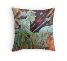 Don Quihote and Rosanante Throw Pillow