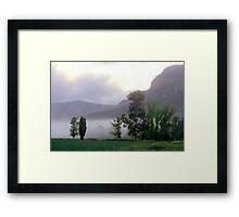 Morning Mist - Glen Davis, Blue Mountains NSW  Framed Print