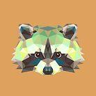 Geometric Raccoon by KingdomofArt