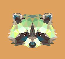 Geometric Raccoon by KingdomofArt