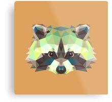 Geometric Raccoon Metal Print