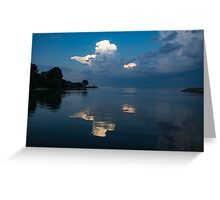 Cool Blue and White Greeting Card
