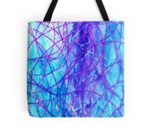 Watercolor and lines Tote Bag