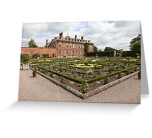 Hanbury Hall and Parterre Garden Greeting Card