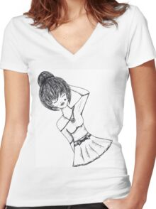 Show her love Women's Fitted V-Neck T-Shirt