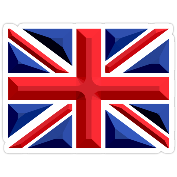 British, Union Jack, Chisel Hard, UK, United Kingdom, Flag, Blighty by TOM HILL - Designer